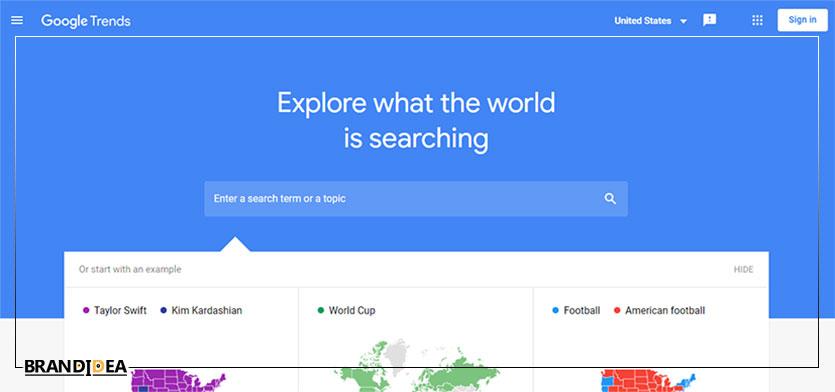 ابزار google trends